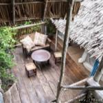 View from our tree house room to the lower tree house room