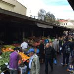 Fruit market just outside the front door of Athens Center Square Hotel