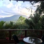 Volcano view from room
