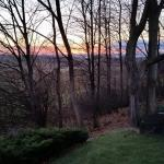 Sunset from private deck