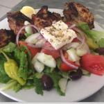 Chargrilled half chicken with Greek salad!!!! Nice!!