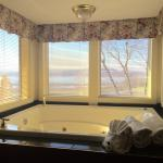 Bath for 2 with amazing view of the Mississippi River