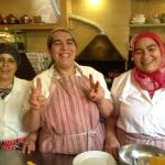 These ladies can cook and are so warm and funny in the kitchen at Riad Idrissy