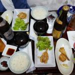 Room service of best blowfish in Japan
