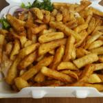 The repas.  There's chicken under all those fries!!