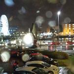 View of the Albert Dock and the big Wheel and the Echo Arena from our Ibis hotel room