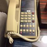 Old phone in the room that didn't work