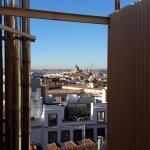 The Almudena Cathedral seen from our room on the 7th floor.