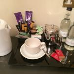 Coffee/tea and water for free in my room