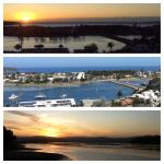 Sunrise & midday from Pacific Height unit 13. Sunset from across lake