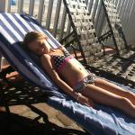 Lounging at the pool
