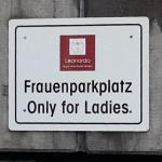 the parking for women only