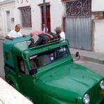 Jeep for the travel for Santiago de Cuba