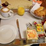 Breakfast in bed! They bring it right to your room