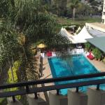 View from room overlooking pool