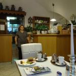the dining room: present