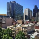 View above swanston street