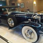 Classic car in the lobby