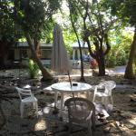 Courtyard area outside our room ;(