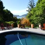 Swimming pool and view from pool