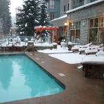 The pool is open also when it's snowing