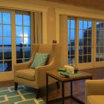 Seating area, double doors to private porch and ocean view