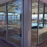 The pool area with a glorious view