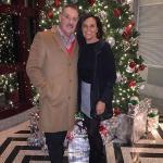 At the wonderful Christmas tree in the lobby