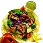 Grilled Marinated Steak Taco. Street-style.