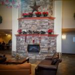 Lots of Holiday Cheer in the Holiday Inn Express & Suites lobby