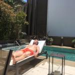 hanging by the pool