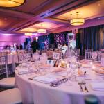 Wedding Set-Up, Lighting, and Menus by Sofitel Staff