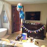 Bday surprise in the suite