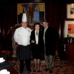Chef Faure greets the guests and is a wonderful host!