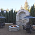 Fire pit and grounds at the Krug Event Center