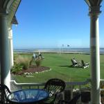 From inside Ryder Cup over green to ocean