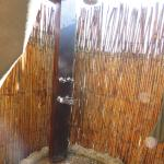 This is the outdoor shower - every room / tent has one!