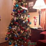 In room Xmas tree
