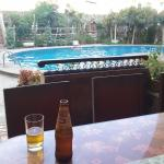 Cleansing ale by the pool on a hot day