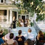 The porch is a great location for a small wedding