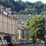 A street off Great Pultney Street, typical Bath housing.