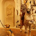 Guide dog puppy Max meets a Roman soldier!