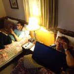 Son and spouse in relaxation mode.