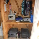 Storage area in room - plenty of room for clothes and bags