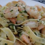 Fettuccine with shrimps