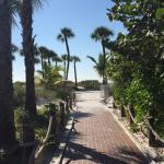 Little walking path right to the beach