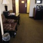 Plenty of space in our room at HI Express, Durant OK