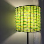 Cute floor lamp made from straws