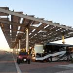 Enjoy shade under our solar structure in the sunniest city!