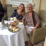 Wonderful champagne Afternoon tea at the Norfolk Royale